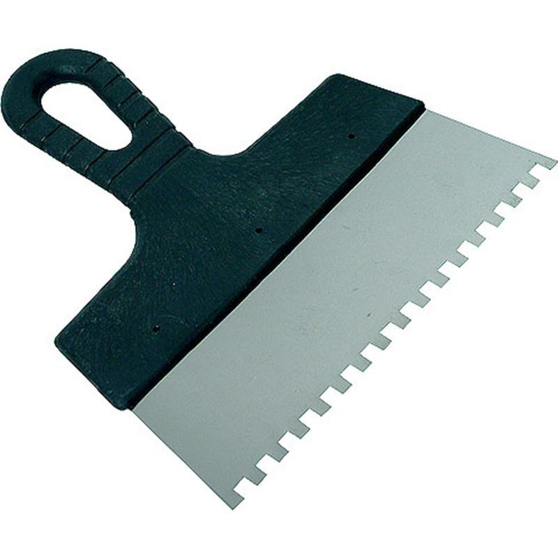 Зубчатый шпатель для укладки плитки.