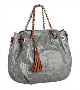 Серая женская сумка