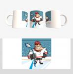 Кружка с хоккейной символикой (Арт. К-33)