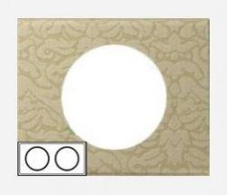 Рамка Legrand Celiane 2 поста текстиль орнамент (арт.69412)