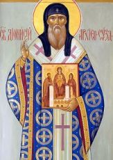 Дионисий Суздальский (рукописная икона)