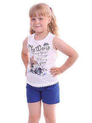 Майка и шорты для девочки Мир