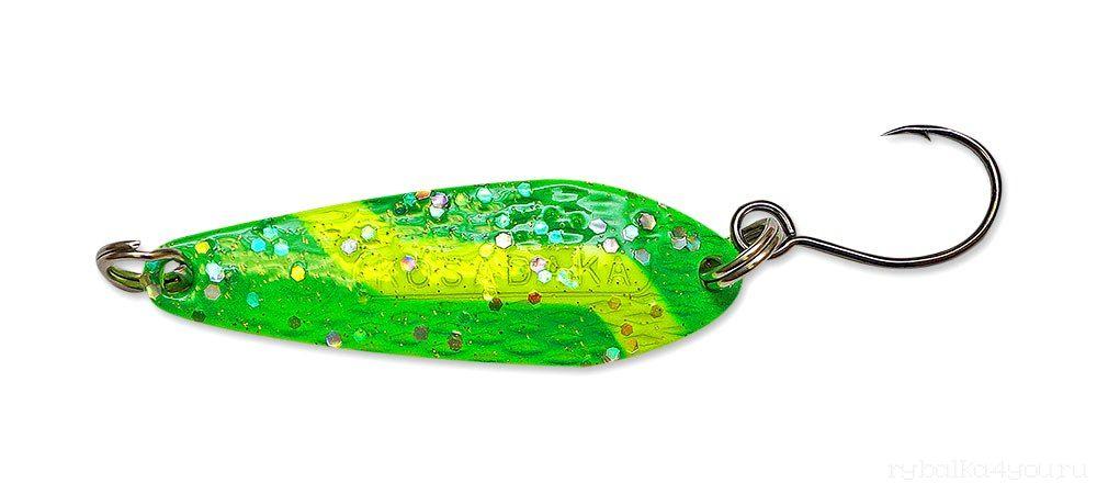 Купить Блесна Kosadaka Echo (одинарный крючок) 33 мм / 3,5 гр цвет GO