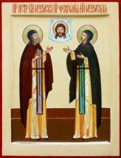 Икона Петр и Феврония Муромские (рукописная)