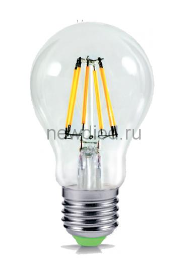 Лампа светодиодная LED-A60-PREMIUM 6Вт 160-260В Е27 3000К 540Лм прозрачная ASD