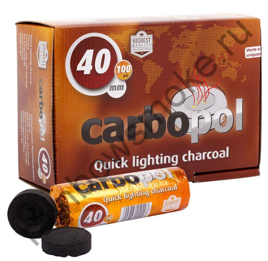 Уголь для кальяна Carbopol 40 мм (Коробка)