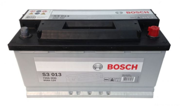 Автомобильный аккумулятор АКБ BOSCH (БОШ) S3 013 / 590 122 072 S3 90Ач о.п.