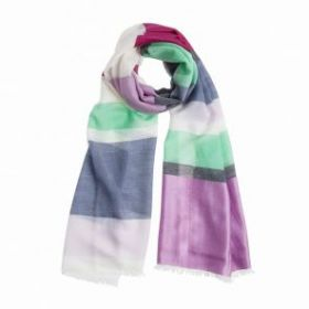 """легкий тонкорунный  широкий шарф """"Пинк"""" , смесь кашемира, мериноса и шёлка  Pink  Blends BEACH STRIPE. плотность 2"""
