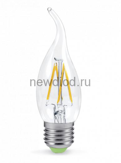 Лампа светодиодная LED-СВЕЧА НА ВЕТРУ-PREMIUM 5Вт 160-260В Е27 3000К 450Лм прозрачная ASD