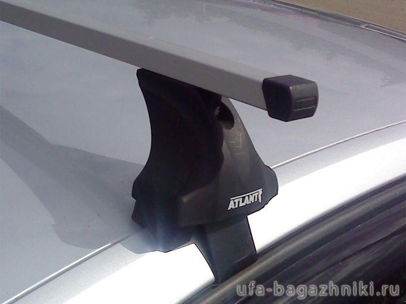 Багажник на крышу Volkswagen Polo sedan, прямоугольные дуги и опоры типа Е