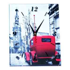 """Часы """"Башня с красной машиной"""" (20*25 см.)"""