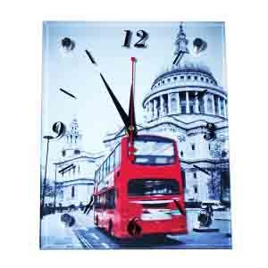 """Часы """"Красный автобус"""" 20*25"""