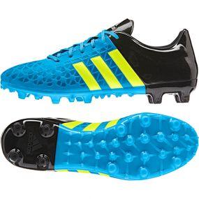 Бутсы adidas Ace 15.3 FG/AG голубые
