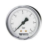 """Манометр аксиальный Watts F+R100(MDA) 63/6  нр 1/4""""х 6 бар (63 мм)"""