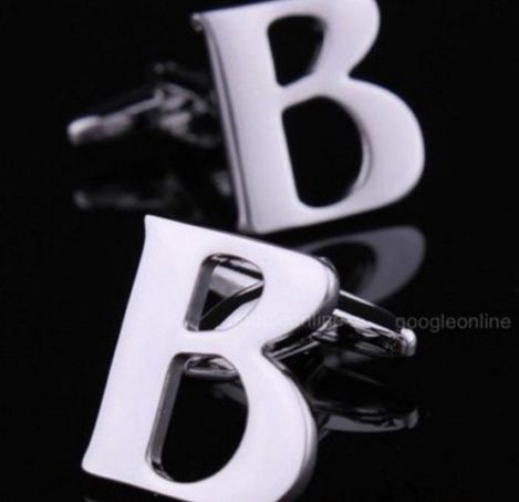 Запонки буква B