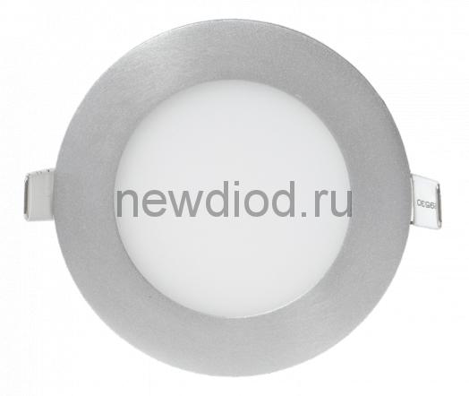 Панель светодиодная круглая RLP 8Вт 160-260В 4000К 560Лм 120/105мм алюминий IP40 LLT