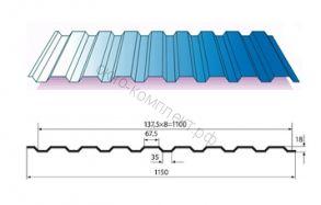 Профнастил МП-20 (0,45мм) 1,15*3 м