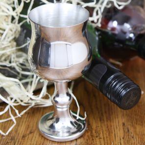 Средневековый зеркальный кубок из пьютера- Григорианский Large Georgian Goblet