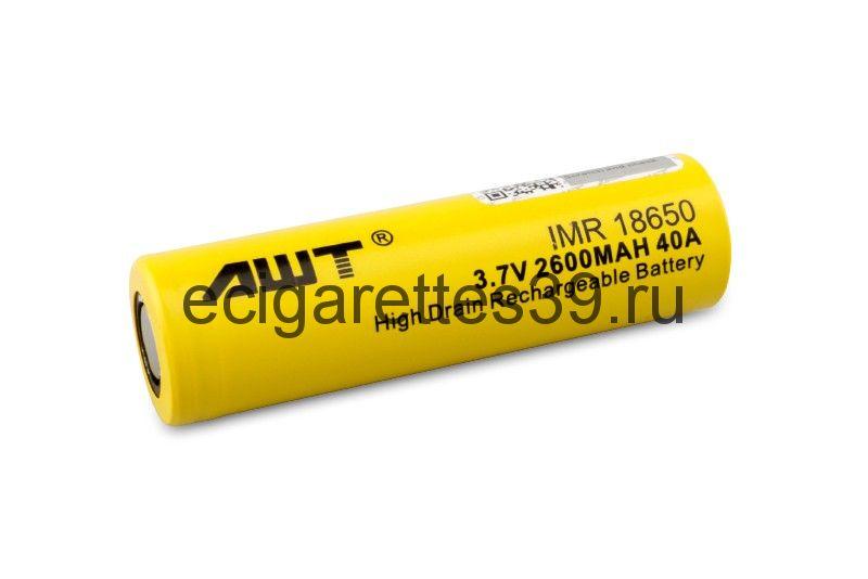 Аккумулятор 18650 AWT IMR 2600 mah 40A