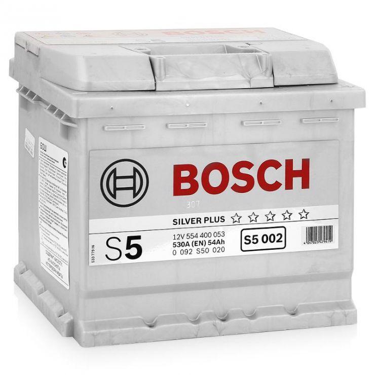Автомобильный аккумулятор АКБ BOSCH (БОШ) S5 002 / 554 400 053 54Ач о.п.
