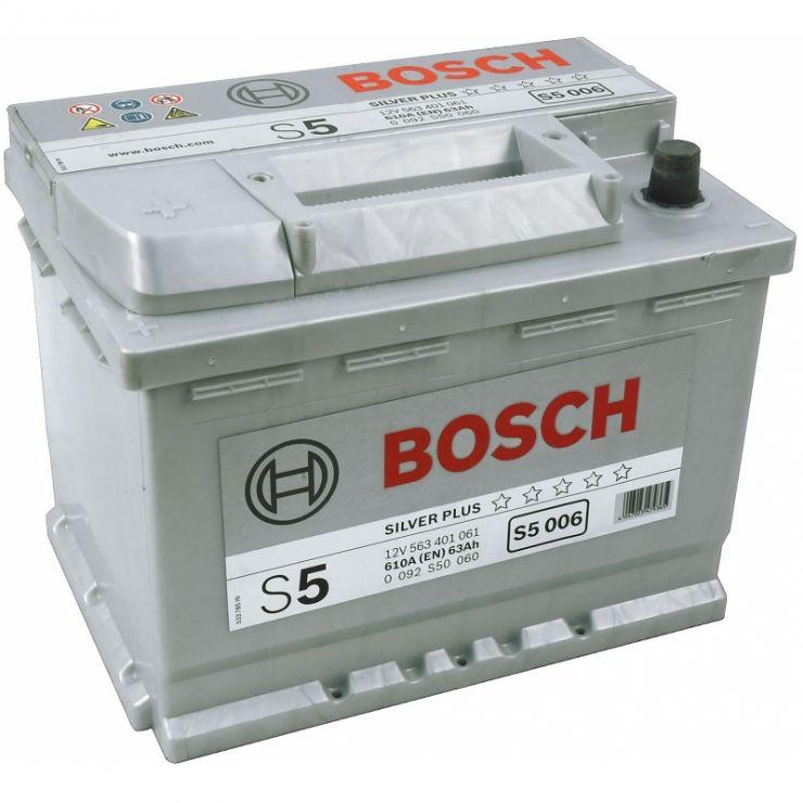 Автомобильный аккумулятор АКБ BOSCH (БОШ) S5 006 / 563 401 061 63Ач п.п.