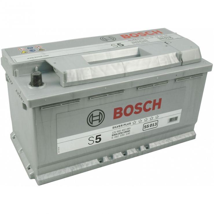Автомобильный аккумулятор АКБ BOSCH (БОШ) S5 013 / 600 402 083 100Ач о.п.