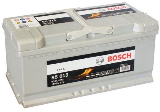 Автомобильный аккумулятор АКБ BOSCH (БОШ) S5 015 / 610 402 092 110Ач о.п.
