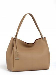 Коричневая кожаная сумка Eleganzza