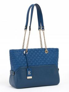 Синяя наплечная сумка Eleganzza