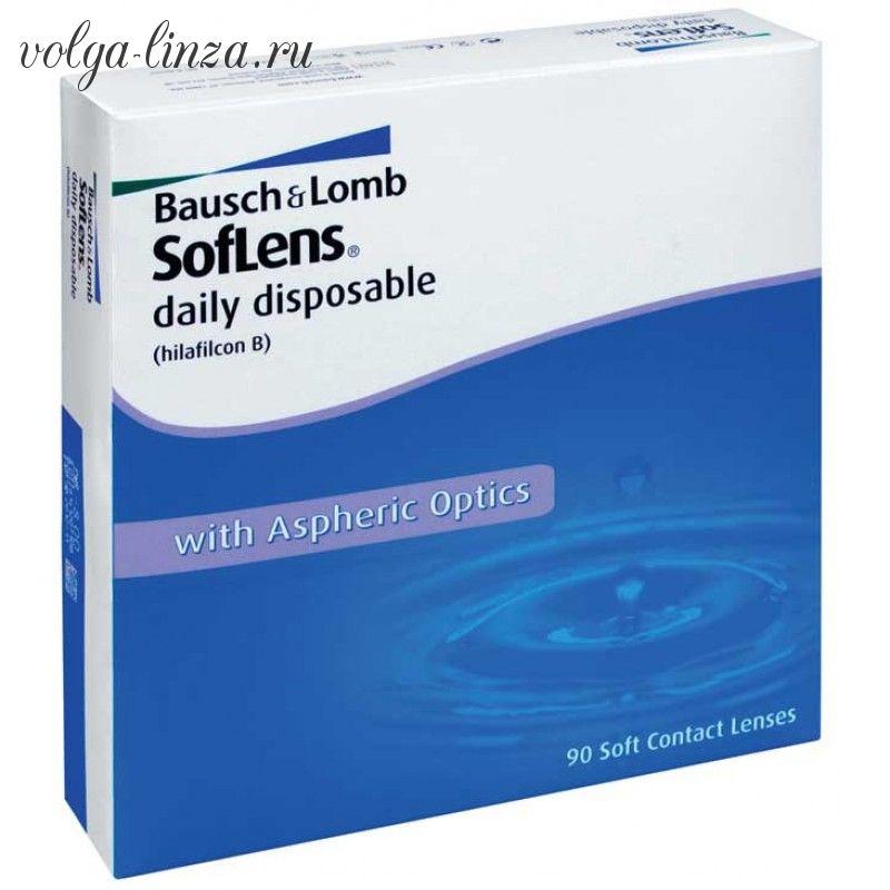 Soflens daily disposable 90-однодневные гидрогелевые линзы