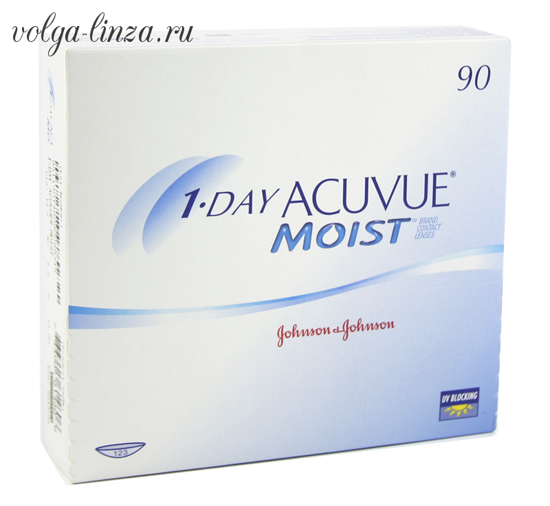 1-DAY ACUVUE MOIST- 90 шт