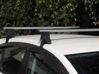 Багажник на крышу Volkswagen Golf 6, Атлант, аэродинамические дуги