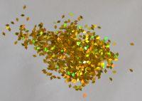 Ромбики для дизайна ногтей «Золото голограмма»