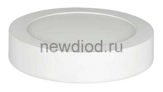 Панель светодиодная круглая NRLP-eco 8Вт 160-260В 4000К 560Лм 120мм белая накладная IP40