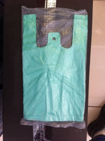 Пакет майка. Цвет - зелёный. (15*30). В упаковке - 80шт.