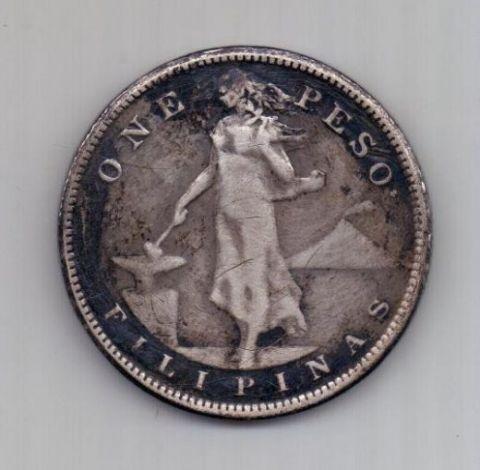 1 песо 1908 г. CША. (Филиппины)