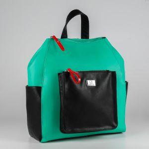 Рюкзак женский 1509810; экокожа; зеленый