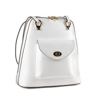 Рюкзак женский 1508510; кожа; белый