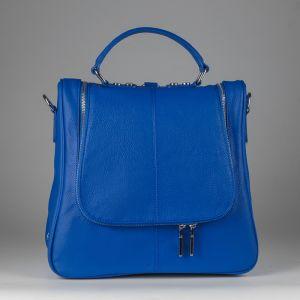 Рюкзак женский 1506416; кожа; синий