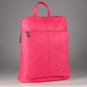 Рюкзак женский 1506516; кожа; розовый