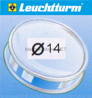 Капсула для монеты Leuchtturm 14 мм, упаковка 10 шт