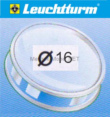 Капсула для монеты Leuchtturm 16 мм, упаковка 10 шт