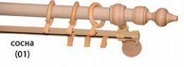 Карниз деревянный ДК 23 сосна