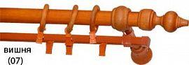 Карниз деревянный ДК 23 вишня