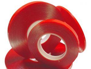 Скотч двухсторонний (2 мм x 25 м) 0,05 мм (red)