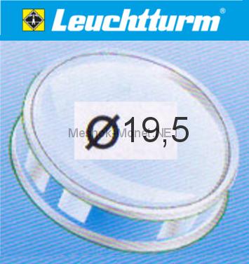 Капсула для монеты Leuchtturm 19,5 мм, упаковка 10 шт