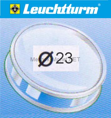 Капсула для монеты Leuchtturm 23 мм, упаковка 10 шт