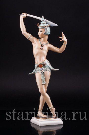 Фарфоровая статуэтка Восточный танцор с мечом производства Hutschenreuther, Германия