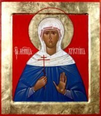 Икона Христина Персидская (рукописная)