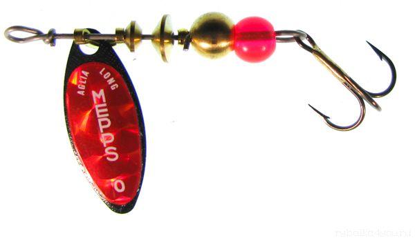 Купить Блесна Mepps Aglia Long Redbo NR (черный) №0 (2,5 гр)